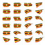 Uganda flag, vector illustration