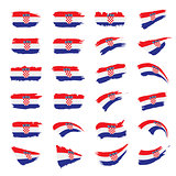 Croatia flag, vector illustration