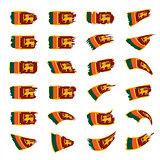 Sri Lanka flag, vector illustration