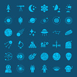 Space Glyph Web Icons