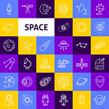 Vector Space Line Icons