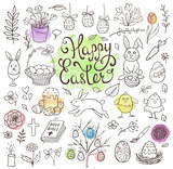 Doodle Easter design elements