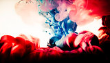 paint of splash, blue and red abstract