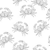 Vector Seamless Pattern with Crabs