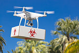 Unmanned Aircraft System (UAV) Quadcopter Drone Carrying Package