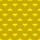 Seamless gold crown pattern background