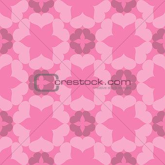 Seamless abstract art pink pattern