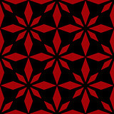 Art abstract geometric dark red black pattern