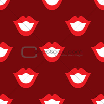 Lips seamless texture bright red color