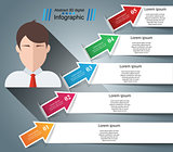 Business Infographics origami style Vector illustration. Avatar icon.