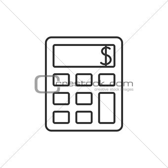 Calculator outline icon