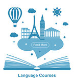 Language courses poster