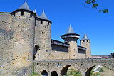 Carcassonne, medieval City walled in France
