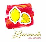 Lemonade creative poster design