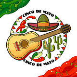 Vector illustration of Cinco de Mayo Day.