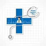 Vector illustration of National Doctors Day stock image