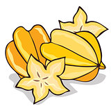 Isolate ripe starfruit or carambola