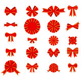 Red bow for decorating gifts
