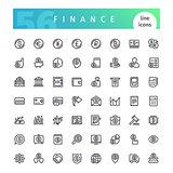 Finance Line Icons Set