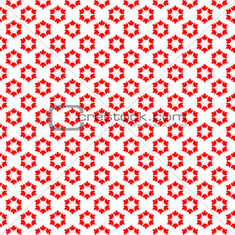 Canadian seamless background, vector illustration.