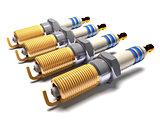 Car spark plugs (3d illustration).