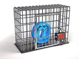Email is a prisoner of spam (3d illustration).
