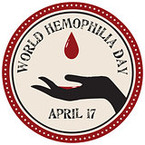 World Hemophilia Day label