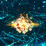 Innovation in the digital world. 3D Rendering