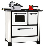 The retro kitchen stove