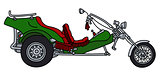 The green motor tricycle