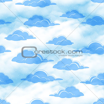 Sky with Clouds Seamless