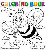 Coloring book happy bee theme 1