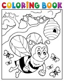Coloring book happy bee theme 2