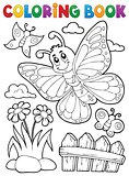 Coloring book happy butterfly topic 5