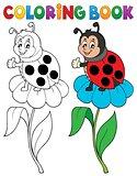Coloring book ladybug theme 6