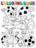Coloring book ladybug theme 7
