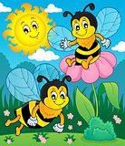 Happy spring bees theme image 2