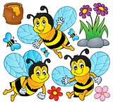 Happy spring bees theme set 1