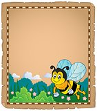 Parchment with happy bee theme 1