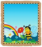 Parchment with happy bee theme 3
