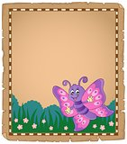 Parchment with happy butterfly theme 1