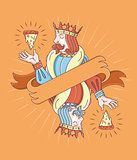 The king of pizza wallpaper design