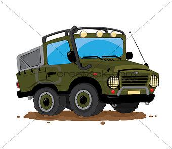 offroad 4x4 jeep cartoon