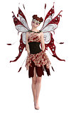 Beautiful Fairy Isolated on White. 3d render