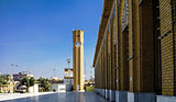Exterior view of Abu Hanifa Mosque with clocktower Baghdad, Iraq