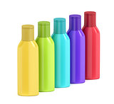 Plastic bottles for cosmetic liquids