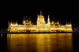 Hungarian Parliament building, night view
