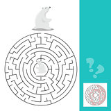 Maze game for children with polar bears