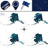 Map of Alaska with Regions
