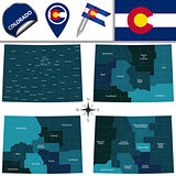 Map of Colorado with Regions